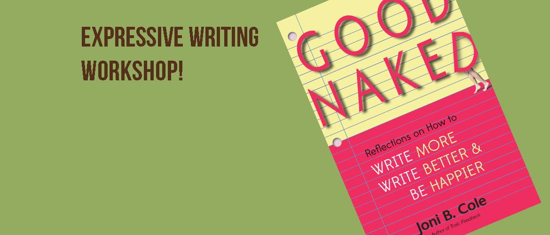 Expressive Writing Workshop with Joni Cole Dec4 6-7:30pm Free